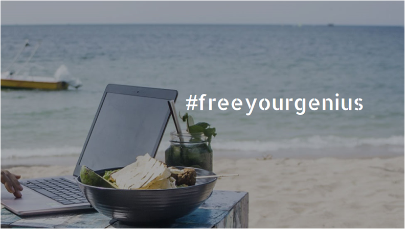 #freeyourgenius social cafe in Bali