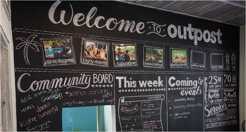 Outpost co-working space Bali