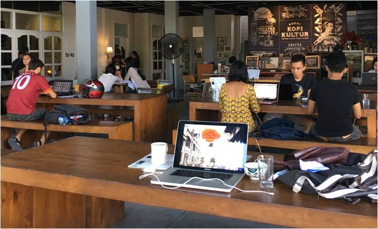 Rumah Sanur Creative Hub in Bali Kampul co-working space