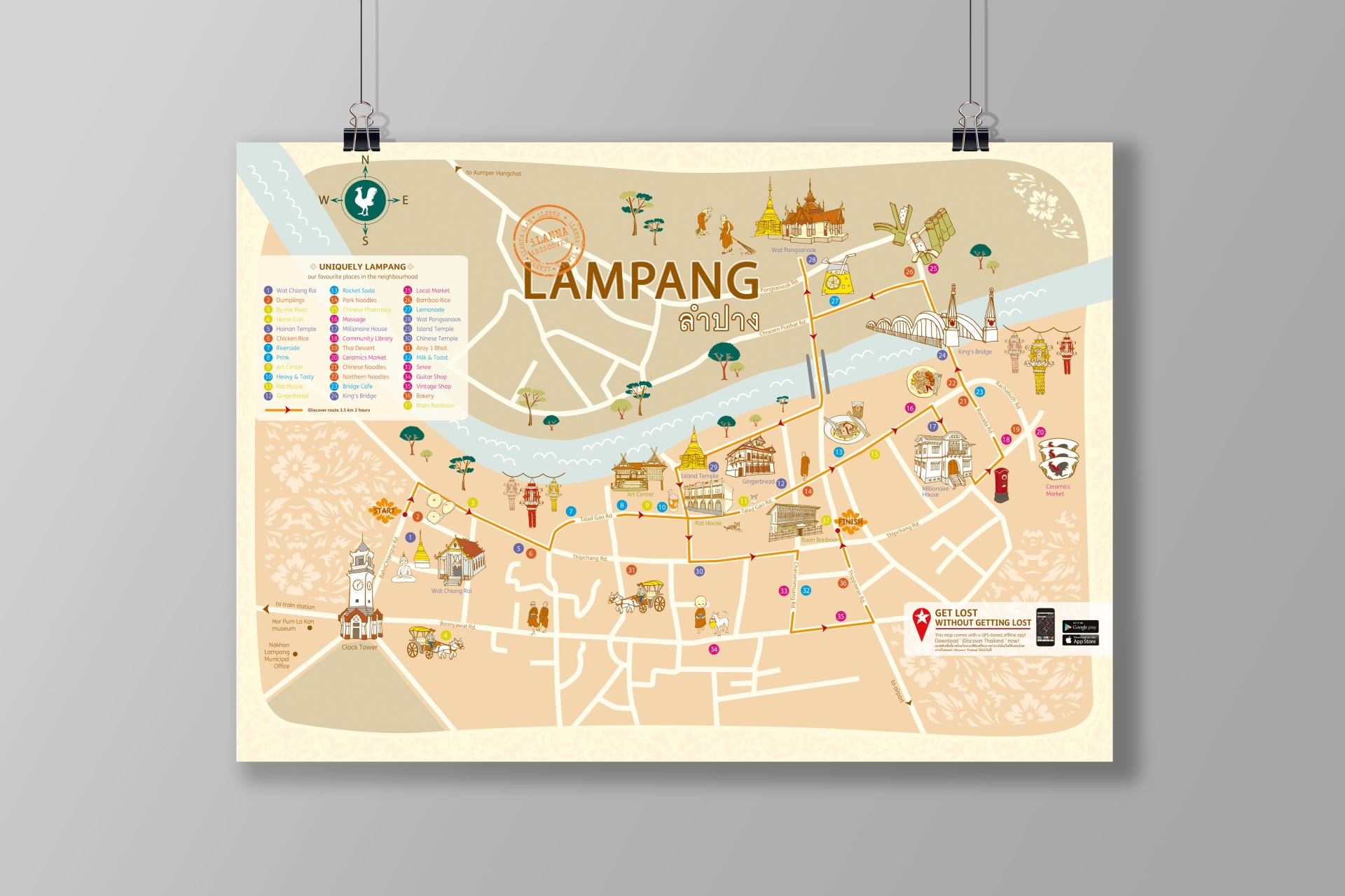 Lampang Thailand Map.Idiscover Lampang Neighbourhood Map