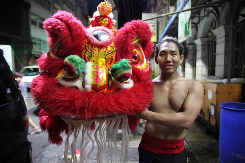 Lion Dancer in Yangon